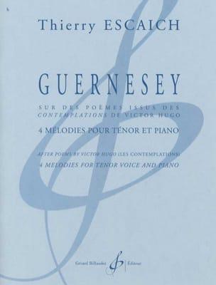 Guernesey Thierry Escaich Partition Mélodies - laflutedepan