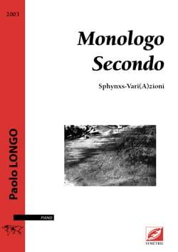 Monologo secondo - Paolo Longo - Partition - Piano - laflutedepan.com