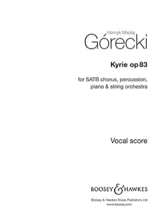 Kyrie, opus 83 GORECKI Partition laflutedepan