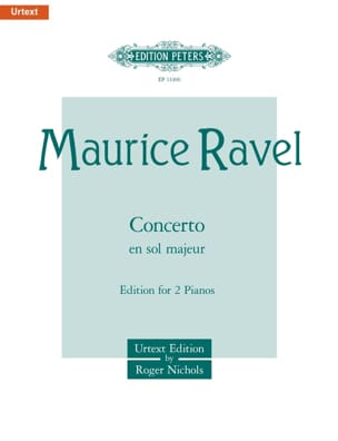 Concerto en Sol RAVEL Partition Piano - laflutedepan
