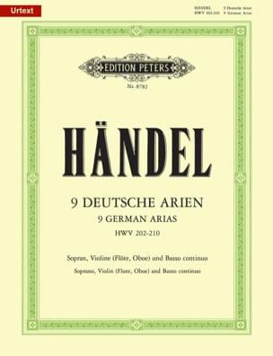 9 Deutsche Arien HWV 202-210 - HAENDEL - Partition - laflutedepan.com