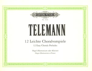 12 Leichte Choralvorspiel TELEMANN Partition Orgue - laflutedepan