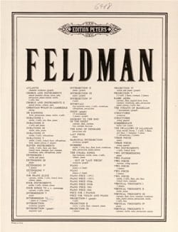 Piece pour 4 Pianos Morton Feldman Partition Piano - laflutedepan