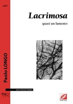 Lacrimosa Paolo Longo Partition Chœur - laflutedepan