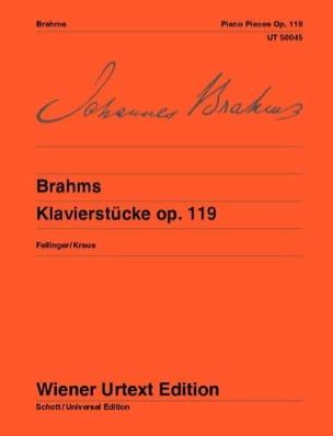 Klavierstücke Opus 119 BRAHMS Partition Piano - laflutedepan