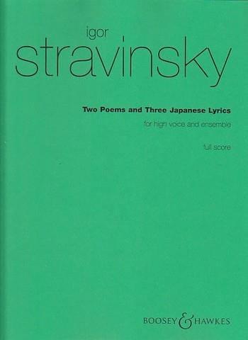 2 Poems, 3 Japanese Lyrics. Conducteur - STRAVINSKY - laflutedepan.com