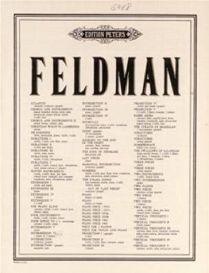 Piece pour 4 Pianos - Morton Feldman - Partition - laflutedepan.com