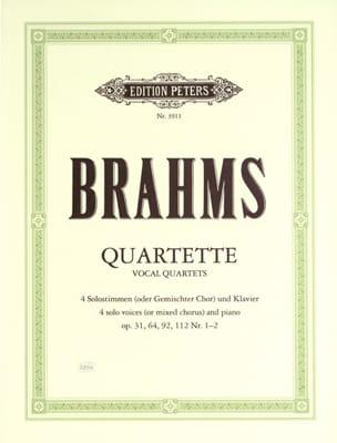 Quatuors Vocaux BRAHMS Partition laflutedepan