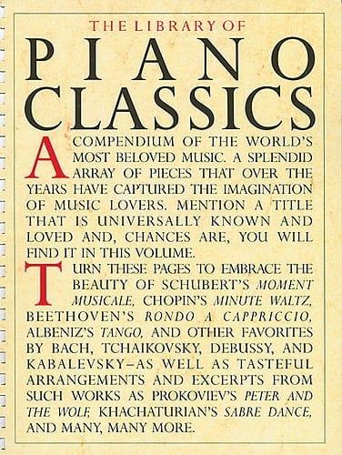 The Library Of Piano Classics Volume 1 - laflutedepan.com
