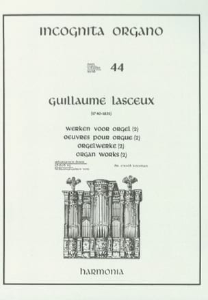 Oeuvres Pour Orgue Volume 2 Guillaume Lasceux Partition laflutedepan