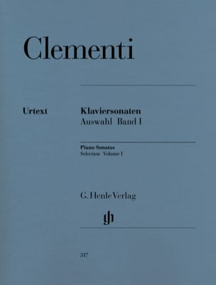 Sonates choisies. Volume 1 CLEMENTI Partition Piano - laflutedepan