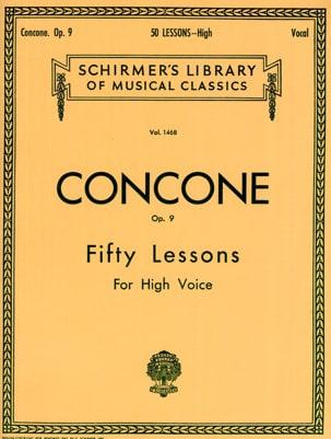 50 Lessons Opus 9 Voix Haute Giuseppe Concone Partition laflutedepan