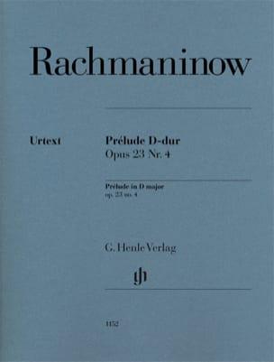 Prélude en Ré Majeur opus 23-4 RACHMANINOV Partition laflutedepan