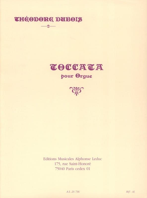 Toccata pour Orgue - Théodore Dubois - Partition - laflutedepan.be