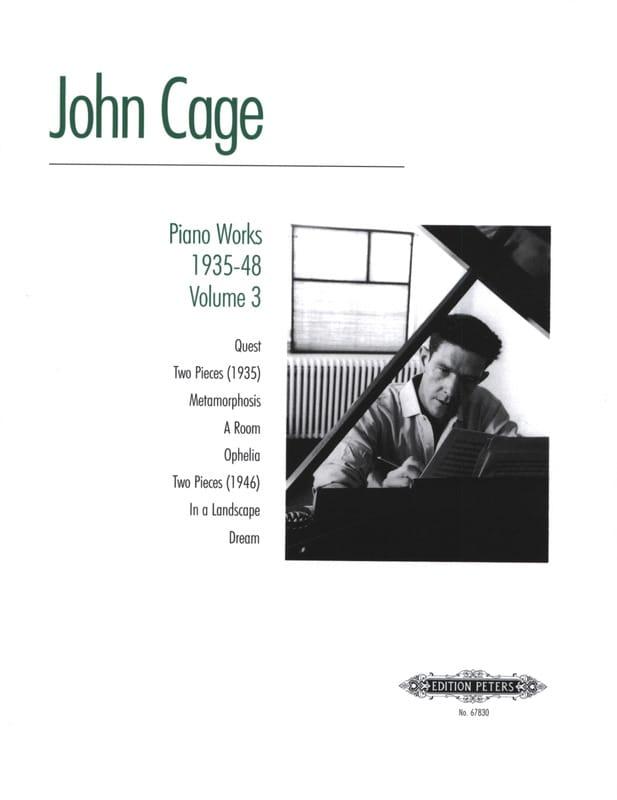 Piano Works 1935-48 Volume 3 - CAGE - Partition - laflutedepan.com
