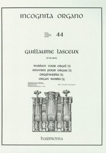 Oeuvres Pour Orgue Volume 2 - Guillaume Lasceux - laflutedepan.com