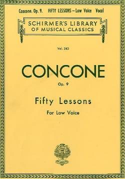 50 Lessons Op. 9 Voix Grave Giuseppe Concone Partition laflutedepan