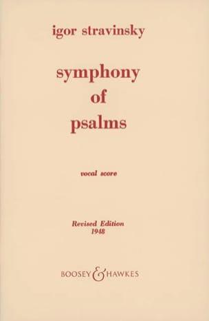Symphonie des Psaumes STRAVINSKY Partition Chœur - laflutedepan