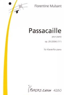 Passacaille Op. 29 Florentine Mulsant Partition Piano - laflutedepan