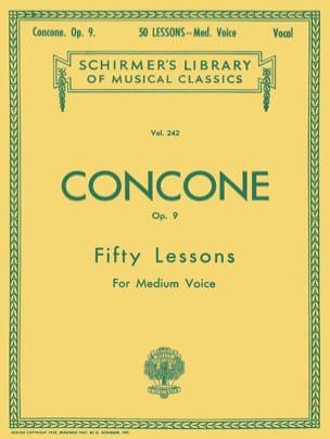 50 Lessons Opus 9. Voix moyenne Giuseppe Concone laflutedepan