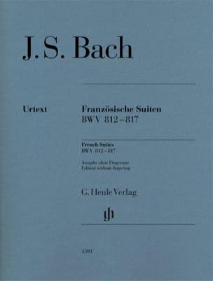 Suites françaises BWV 812-817 BACH Partition Piano - laflutedepan