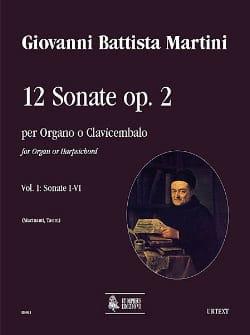 12 Sonates Opus 2 Volume 1 Giovanni Battista Martini laflutedepan