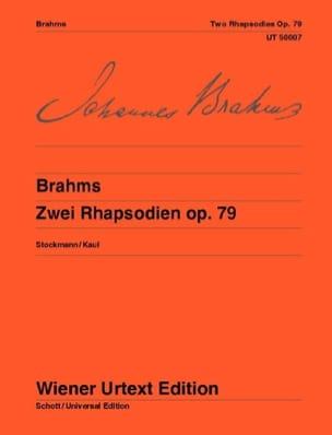 2 Rhapsodies Opus 79 BRAHMS Partition Piano - laflutedepan