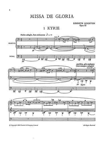 Missa De Gloria Op 82 - Leighton - Partition - laflutedepan.com