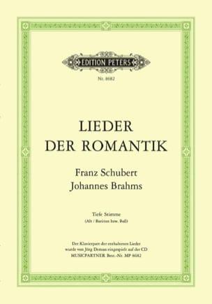 Lieder Romantik. Voix Grave SCHUBERT / BRAHMS Partition laflutedepan