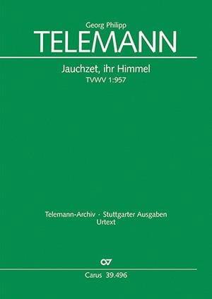Jauchzet, Ihr Himmel Twv 1-957 - TELEMANN - laflutedepan.com