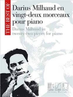 22 Morceaux Pour Piano MILHAUD Partition Piano - laflutedepan