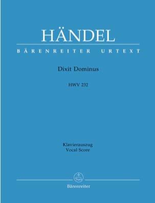Dixit Dominus HAENDEL Partition Chœur - laflutedepan