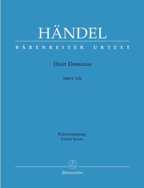 Dixit Dominus - HAENDEL - Partition - Chœur - laflutedepan.com