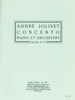 Concerto Piano André Jolivet Partition Piano - laflutedepan
