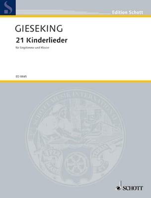 21 Kinderlieder - Walter Gieseking - Partition - laflutedepan.com