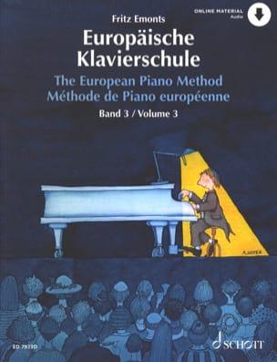 Méthode Européenne de Piano Volume 3 Fritz Emonts laflutedepan