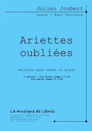 Ariettes Oubliées. 2 Versions Julien Joubert Partition laflutedepan