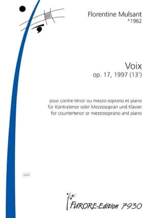 Voix opus 17 Florentine Mulsant Partition Mélodies - laflutedepan