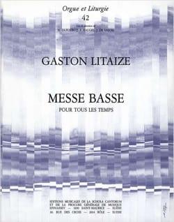 Messe Basse Pour Tous Les Temps Gaston Litaize Partition laflutedepan