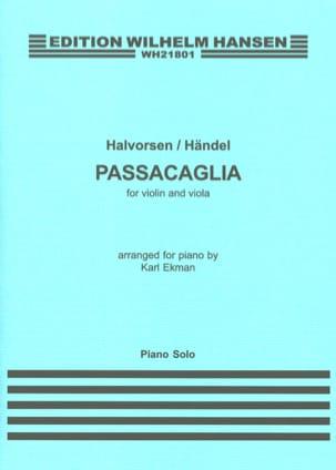 HAENDEL / HALVORSEN - Passacaglia - Partition - di-arezzo.fr