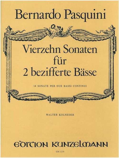 14 Sonates Pour 2 Basses Chiffrées - laflutedepan.com