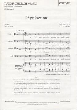 If Ye Love Me Thomas Tallis Partition Chœur - laflutedepan