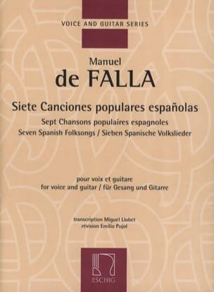 7 Canciones Populares Espanolas. DE FALLA Partition laflutedepan