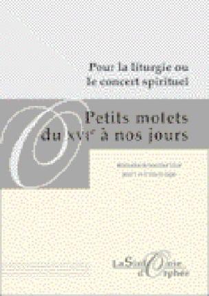 Petits Motets Du 16ème A Nos Jours - Partition - laflutedepan.com