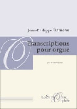 Transcription Pour Orgue RAMEAU Partition Orgue - laflutedepan