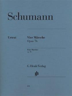 4 Marches Op. 76 SCHUMANN Partition Piano - laflutedepan