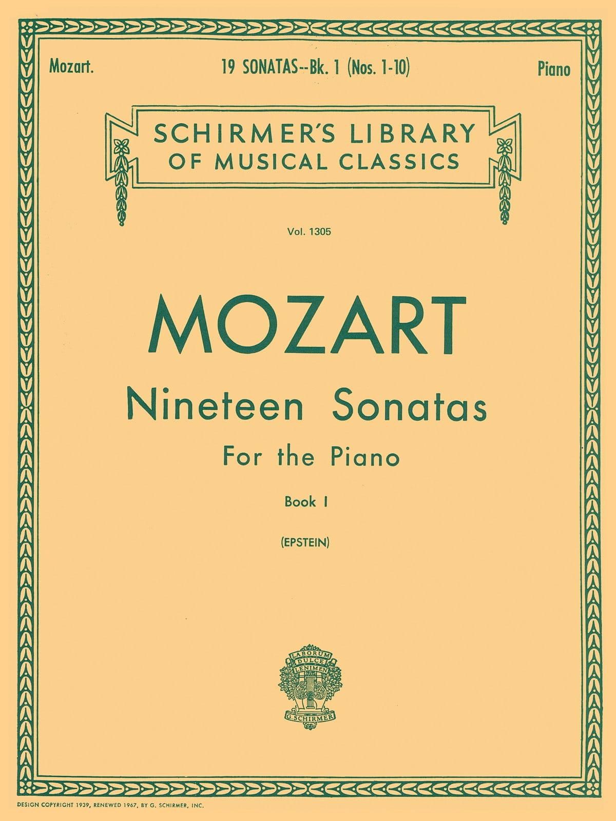 19 Sonates Volume 1 - MOZART - Partition - Piano - laflutedepan.com
