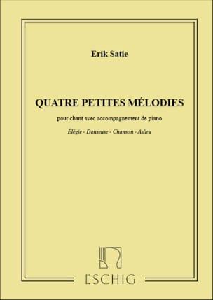 4 Petites Mélodies. SATIE Partition Mélodies - laflutedepan