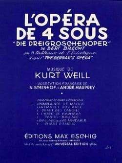 Kurt Weill - Mackie's lament. Opera 4 sous - Partition - di-arezzo.com