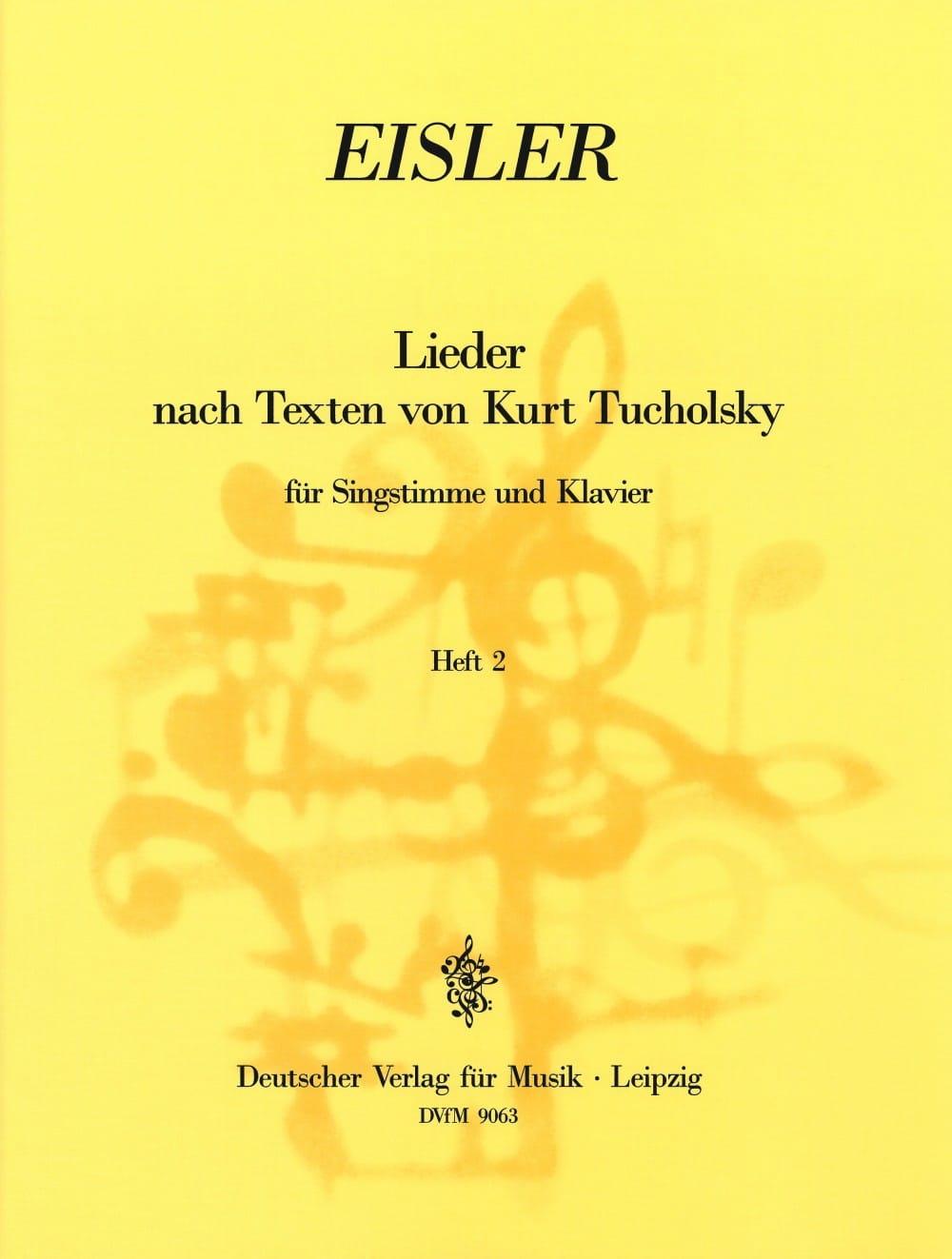 Lieder Nach Texten Von Kurt Tucholsky Volume 2 - laflutedepan.com